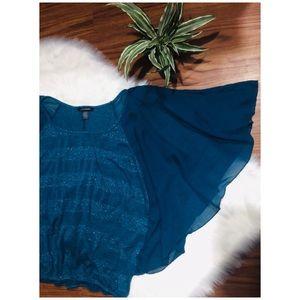 Ashley Stewart • Chiffon Flowy Sleeve Blouse